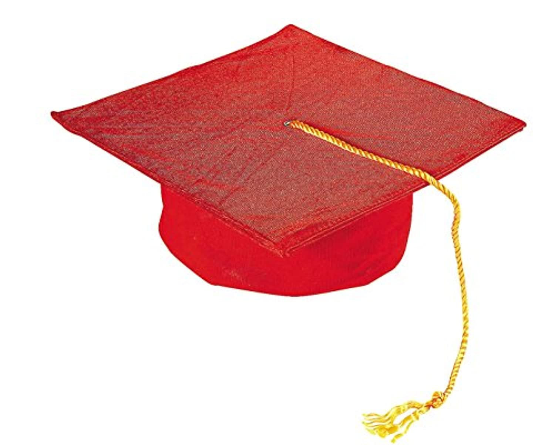 子の赤モルタルボード帽子( 20