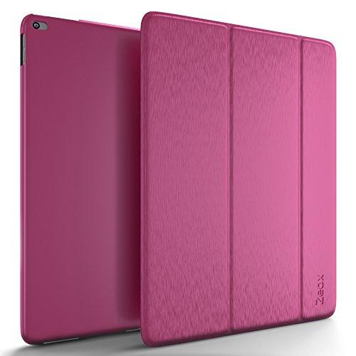 iPad Pro 9.7ケース–Zeox超スリムsmart-shellスタンドカバーゴム引きバック保護ケースfor Apple iPad Pro 9.7inch 2016Release Tablet with Auto Wake / Sleep iPad Pro 9.7 inches ZX-IP-PRO9-PINK