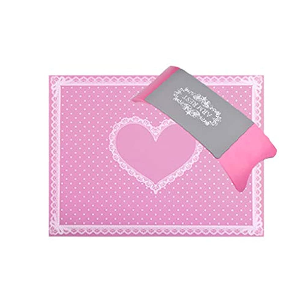 透過性アシストマットNerhaily 手の枕 ハンドレスト アームレスト ネイル用 ハンドピロー 手首枕 スポンジクッション 手首をサポート 柔らかい 美容院 美容室 サロン 洗え 5色選択可 (ピンク)