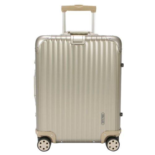RIMOWA リモワ トパーズ チタニウム 945.56 94556 Topas Titanium マルチホイール チタンゴールド (シャンパンゴールド) スーツケース 4輪 45L (920.56.03.4) [並行輸入品]