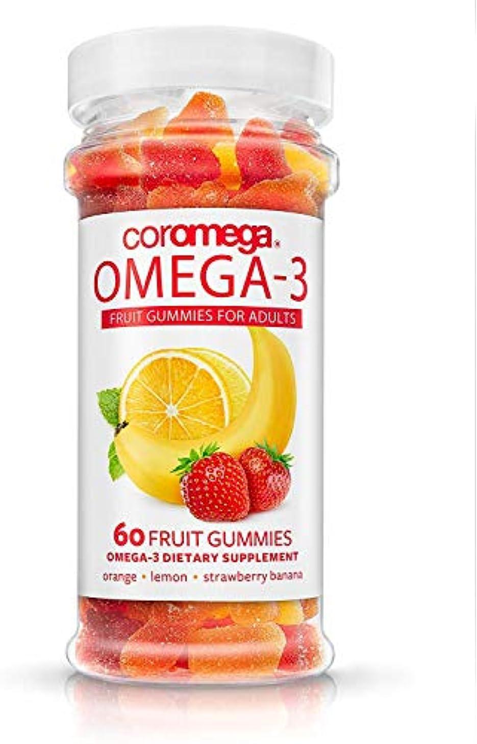 流用する製造業学期Coromega - Omega-3 大人のためのフルーツGummies - 60グミ入りX 4ボトル [並行輸入品]