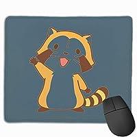 HI アライグマ マウスパッド 滑り止め マウス用パット ゲーミング 耐久性 約(25cm X 30cm) マウス パッド