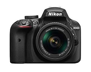 Nikon デジタル一眼レフカメラ D3400 AF-P 18-55 VR レンズキット ブラック D3400LKBK クリーニング クロス付き