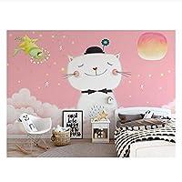 かわいい猫3D壁画壁紙リビングルームキッチンウォールアートデコレーションポスターカスタムカスタム330センチメートル(W)* 210センチメートル(h)