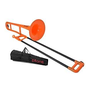 pBONE(ピーボーン) プラスチック製トロンボーン カラー:オレンジ