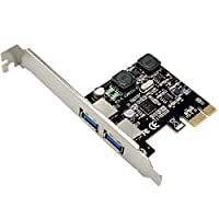 PCI-Express to 2 Port USB 3.0 Host Controller Card Adapter Hub Super Speed 5Gb/s