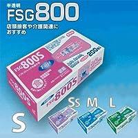 林商会 Fuji ソフトストレッチ抗菌手袋 FSG800-L 半透明×4箱