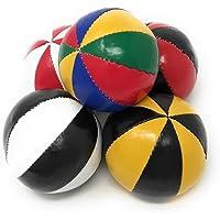 ビーンバッグジャグリングボール「8枚スター」ノーマルサイズ JUGGLE 4 FUN  (カラーコンビネーション, 5個セット)