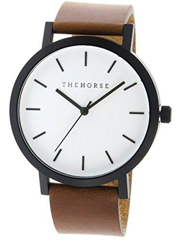 [ザ ホース] THE HORSE 腕時計 オリジナル THE ORIGINAL クオーツ ST0123A9 ホワイト/ウォルナット ユニセックス [並行輸入品]