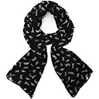 Spring Lightweight Scarves for Women Cute Cat Pattern Fashion Scarves for Girl