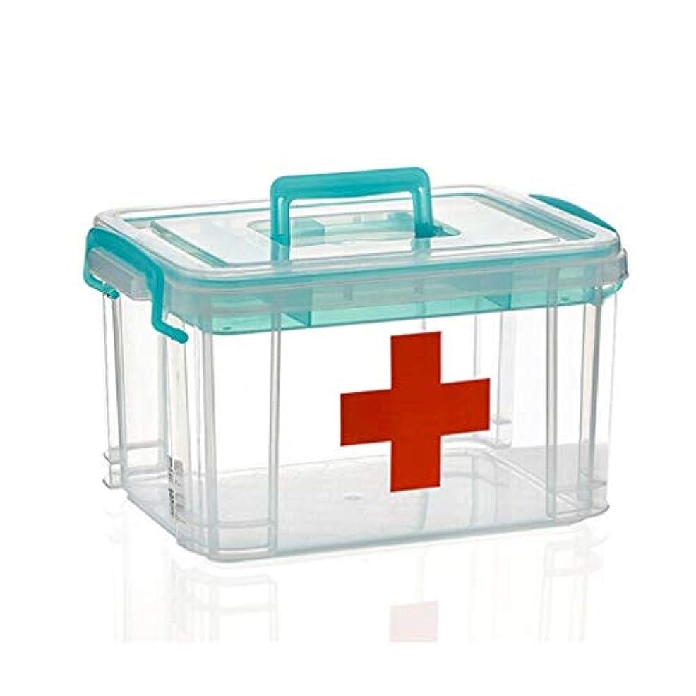 複雑な大腿有名GLJJQMY プラスチック製の収納ボックス、家庭用の医薬品収納ボックス、環境保護用の収納ボックス付きの価値ある収納ボックス 薬収納ボックス (Size : 16L)