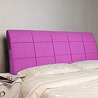 GLP クッション畳ベッドヘッドクッション大背もたれ枕ダブルソリッドウッドベッドソフトバッグ枕腰椎枕取り外し可能と洗える、7サイズ&5色 (Color : 5#-With headboard, Size : 160cm)