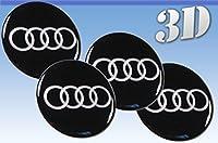 ホイールステッカーアウディすべてのサイズセンターキャップロゴバッジホイールトリム3D(30mm)Audi