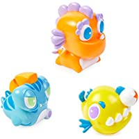 Bling Buddiezフローティング水のおもちゃバスタブとプール – 3、プールBath Toys for Toddlers & Kids With再利用可能なキャリーケース – Sea Guy Buddiez