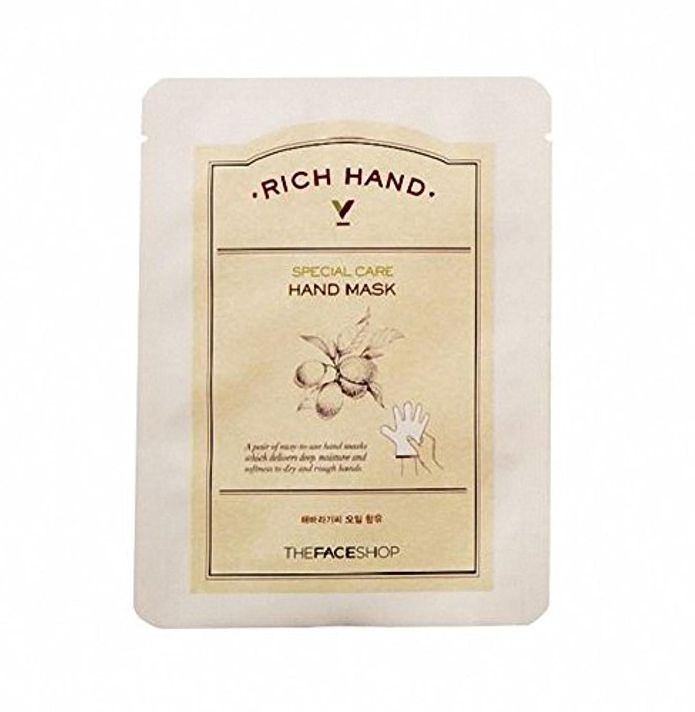 円形の実行可能友だち[ザ·フェイスショップ The Face Shop]  リッチ ハンド V スペシャルケア ハンドマスク (3枚) Rich Hand V Special Care Hand Mask (3 Sheet) 韓国コスメ[海外直送品]