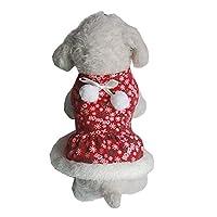 ペット犬の子犬サンタシャツクリスマスコスチューム暖かいコートアパレルセーター:A、XS