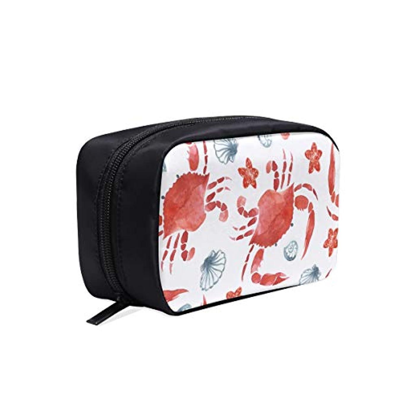 ジョリービジョン階DMHYJ メイクポーチ カニ ボックス コスメ収納 化粧品収納ケース 大容量 収納 化粧品入れ 化粧バッグ 旅行用 メイクブラシバッグ 化粧箱 持ち運び便利 プロ用