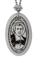 ハンドメイドSaint John Baptist de Lasalleオーバル磁器ペンダント( with 22インチチェーン)