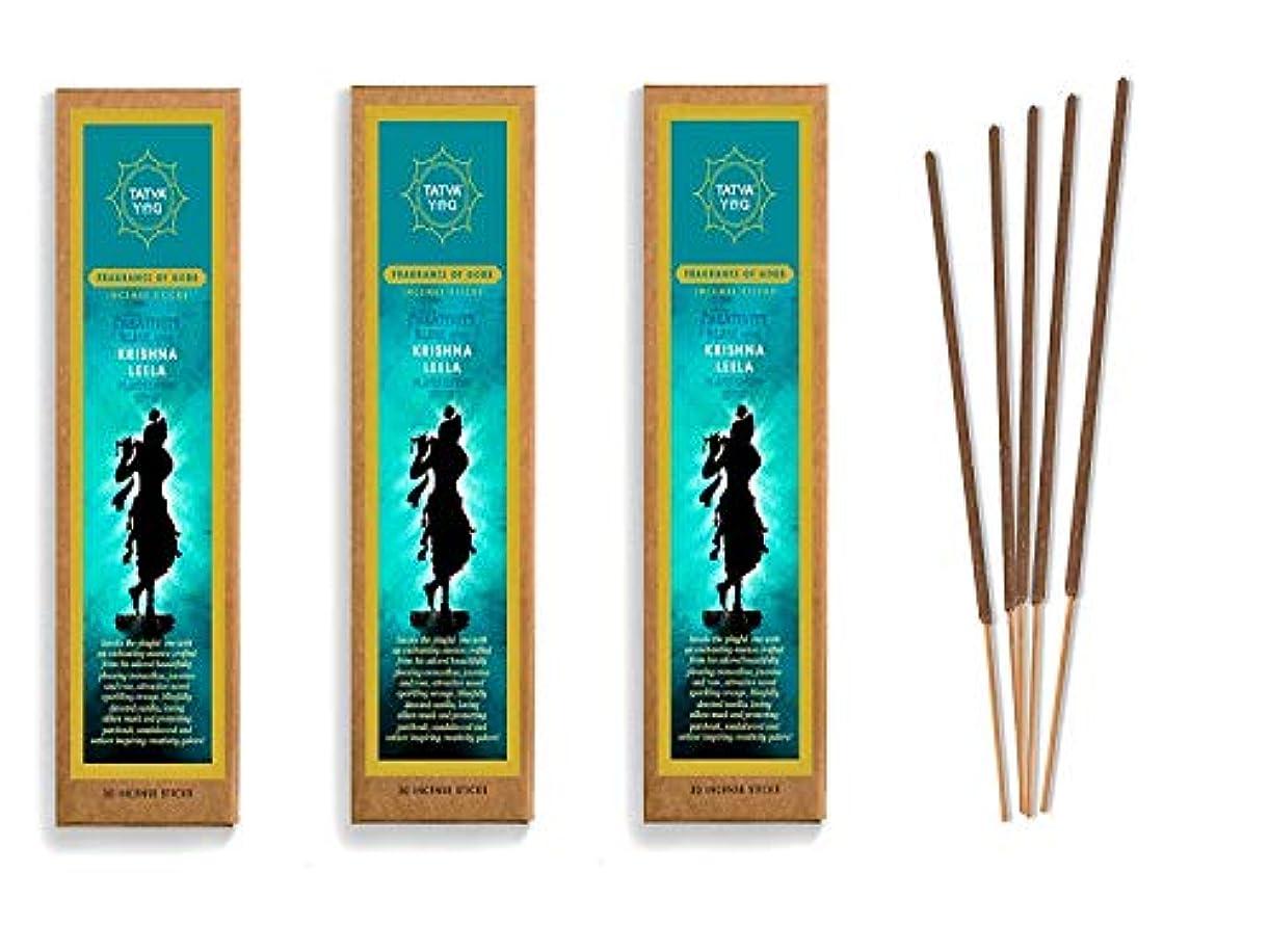 恋人批判的マットKrishna Leela Long Lasting Incense Sticks for Daily Pooja|Festive|Home|Scented Natural Agarbatti for Positive Energy|Good Health & Wealth (Pack of 3 | 30 Sticks Per Pack)