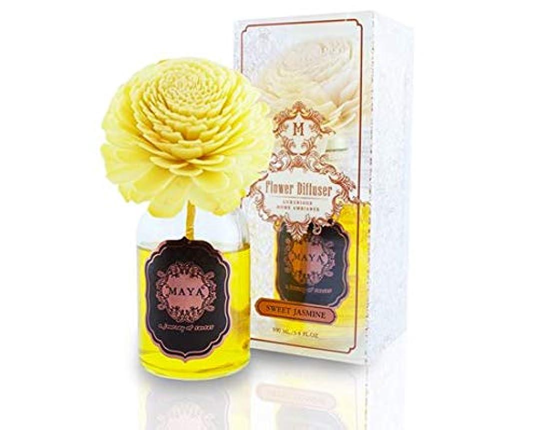 MAYA フラワーディフューザー スイートジャスミン 100ml | Aroma Flower Diffuser - Sweet Jasmine 100ml [並行輸入品]