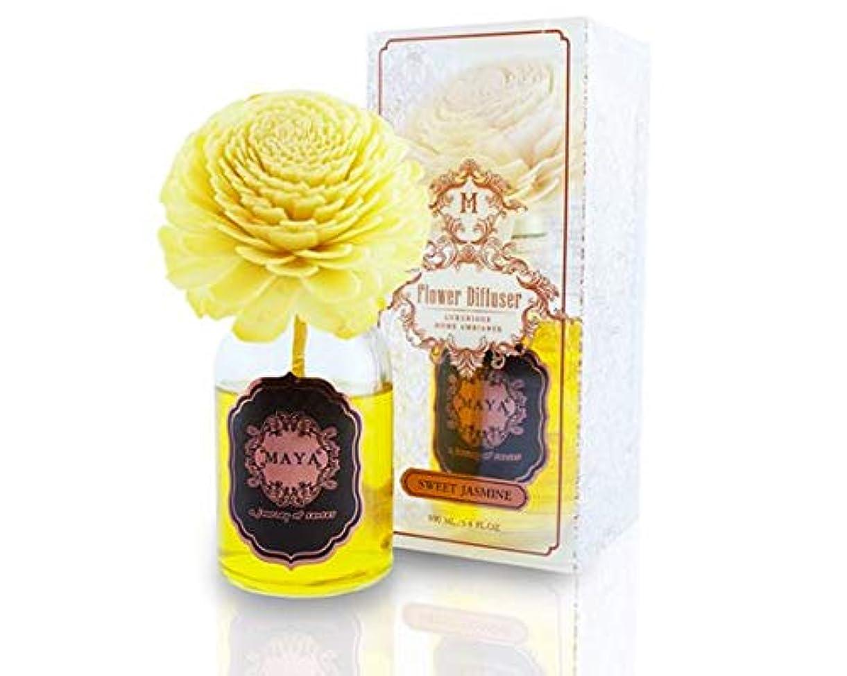 MAYA フラワーディフューザー スイートジャスミン 100ml   Aroma Flower Diffuser - Sweet Jasmine 100ml [並行輸入品]