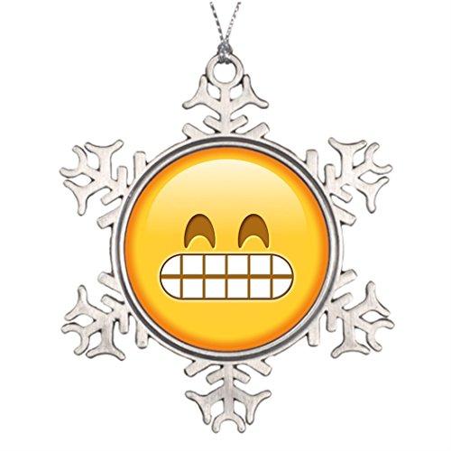 ツリーブランチ装飾Funny Angry絵文字スマイリーHouseクリスマススノーフレークオーナメントFunny