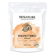 Natural Walnut Shell Powder with Resealable Zip Lock Pack, No Silica and Any Artificial Additives for Homemade Natural Scrub 227g, 1/2lbs, 8oz