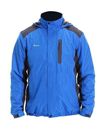 Clothin(クロズイン)マウンテンパーカー アウトドアジャケット ウィンドシェルジャケット 登山ジャケット スキー アノラック 防風 防寒 メンズ C73215-L-ブルー