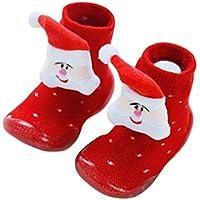 Xiang Ru Newborn Toddler Baby Anti-slip Slipper Floor Socks - Christmas XMAS - Cotton Thick Terry Cloth