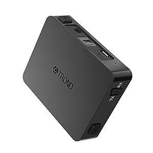 TROND 2-イン-1 Bluetooth トランスミッター レシーバー AptX Low Latency対応 送信機 受信機 光デジタル入力 3.5mm AUXジャック 500mAhバッテリー内蔵 2台ワイヤレスヘッドホン同時にAptX LL接続可能 コーデックインジケーター付