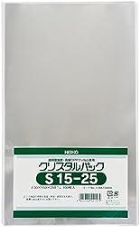 ヘイコー 透明 OPP袋 クリスタルパック 15×25cm 100枚 S15-25