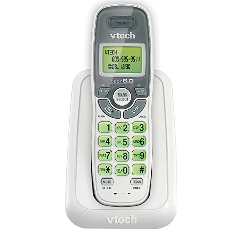 [해외]V-Tech DECT 6.0 Cordless Caller ID Phone~ White CS6114/V-Tech DECT 6.0 Cordless Caller ID Phone~ White CS 6114