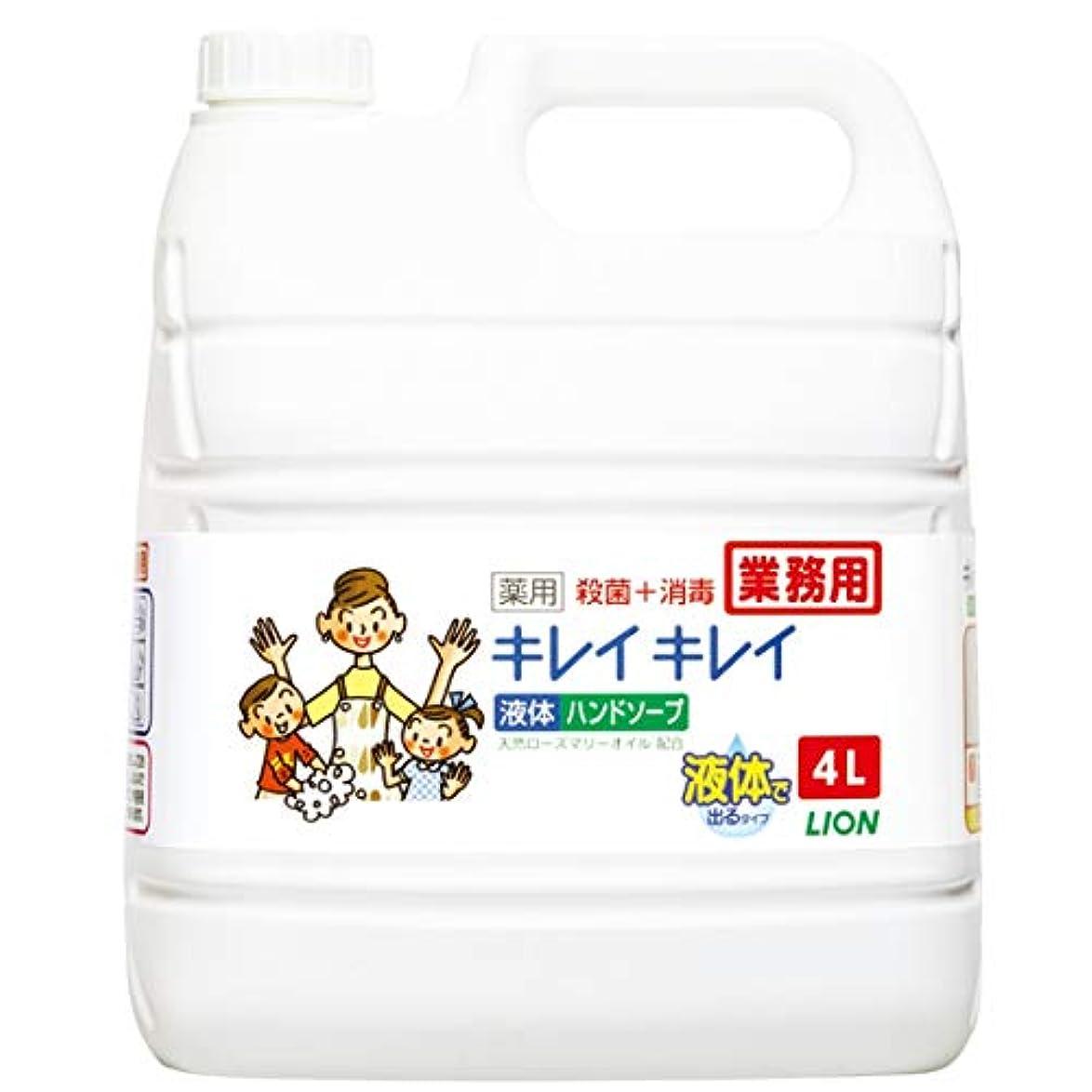治安判事プロジェクター【業務用 大容量】キレイキレイ 薬用 ハンドソープ  4L(医薬部外品)
