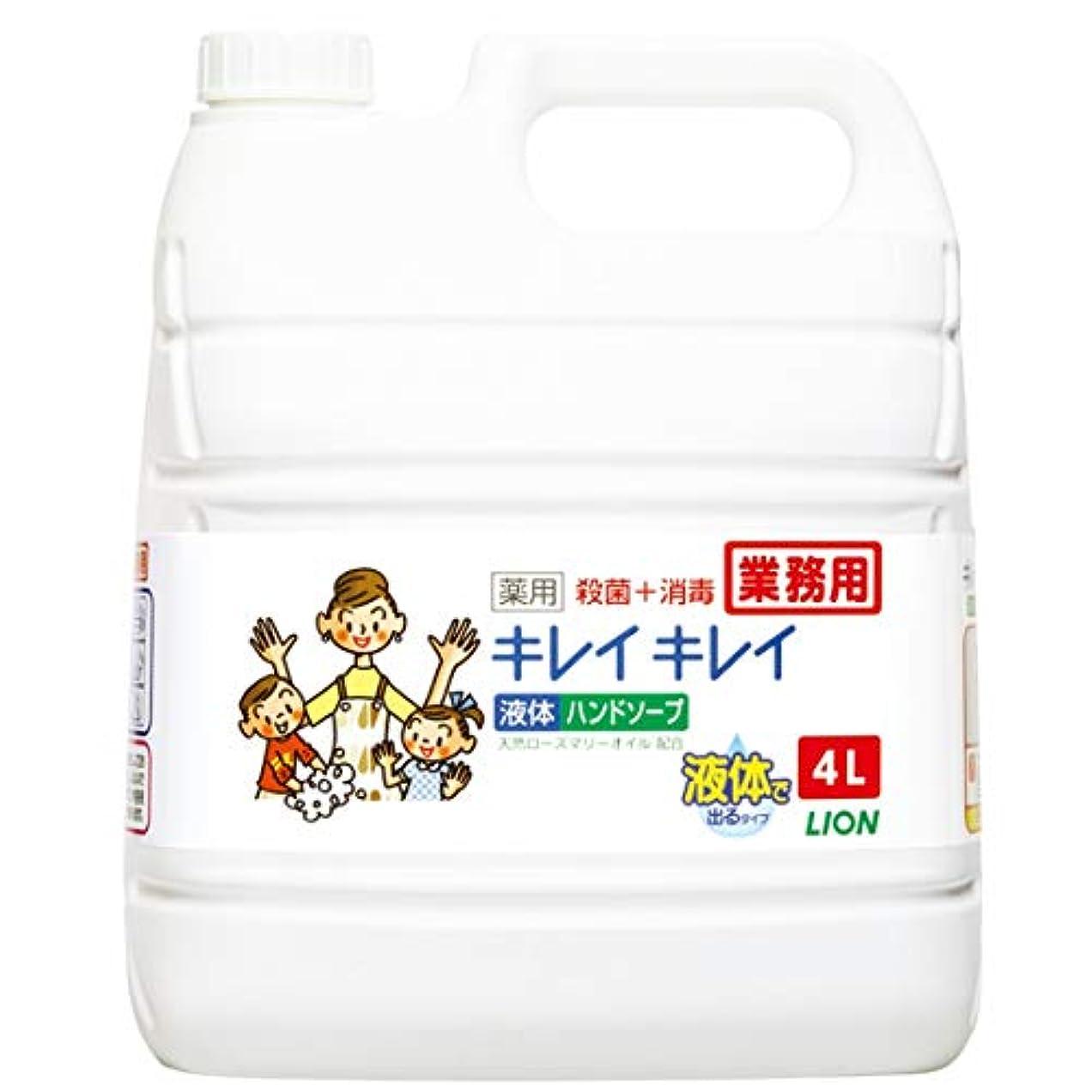 歩道寝室を掃除するブーム【業務用 大容量】キレイキレイ 薬用 ハンドソープ  4L(医薬部外品)