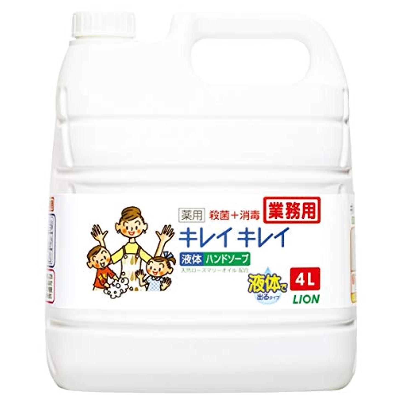 お嬢フルーツ野菜床を掃除する【業務用 大容量】キレイキレイ 薬用 ハンドソープ  4L(医薬部外品)