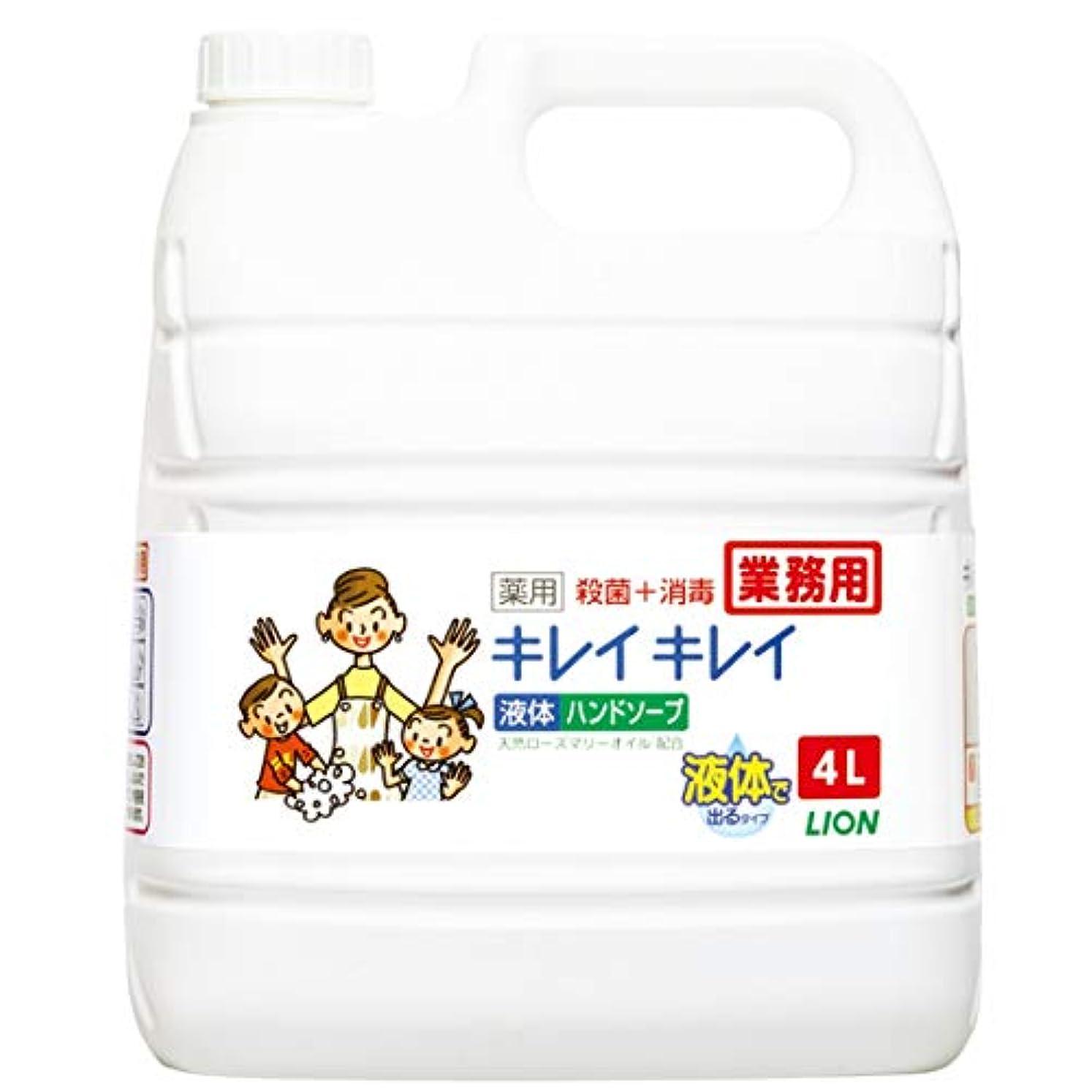 作業子音太字【業務用 大容量】キレイキレイ 薬用 ハンドソープ  4L(医薬部外品)