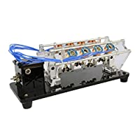 chiwanji 電磁石エンジンモデル アクリルブラケットサポート ビームブラケット Vタイプ モーター 耐久性 全4サイズ - 8コイル