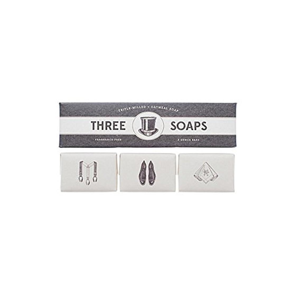 集まる多年生デッキ石鹸のイゾラトリオ x4 - Izola Trio Of Soaps (Pack of 4) [並行輸入品]
