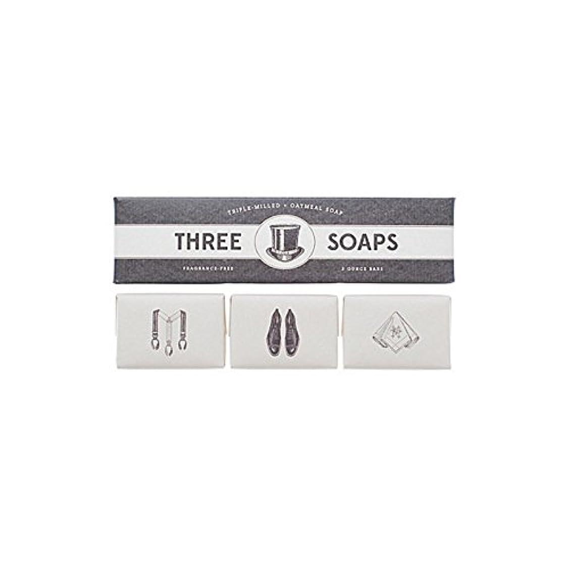 愛国的な夜の動物園三角石鹸のイゾラトリオ x4 - Izola Trio Of Soaps (Pack of 4) [並行輸入品]