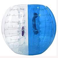 flyerstoyインフレータブルバンパーボール直径4/5ft (1.2/1.5M) バブルサッカーボールBlow Upおもちゃ、Giant Humanハムスターボールの大人とティーン ブルー