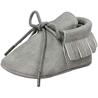 Antheron Infant Moccasins - Unisex Baby Boys Girls Soft Sole Tassels Toddler First Walker Shoes