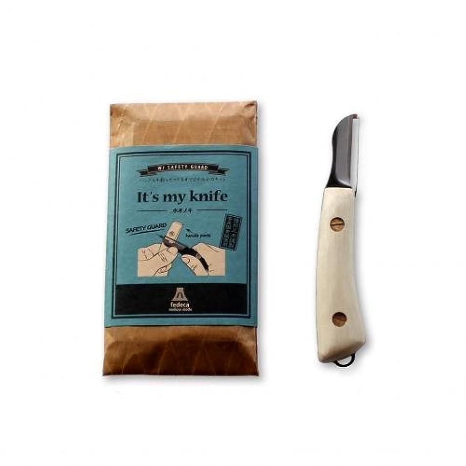 ベットリーズ干ばつIt's my knife with safety guard ホオノキ M-102A-S
