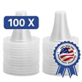 [100-Pack] Ear Thermometer Probe Covers, Lens Filters, Refill Caps for All Braun ThermoScan Models, BPA/Latex Free