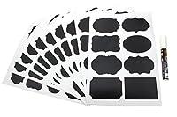 Anfimu黒板ラベルComplete Bundle : 80プレミアムステッカーfor Jars +ホワイトチョークマーカー
