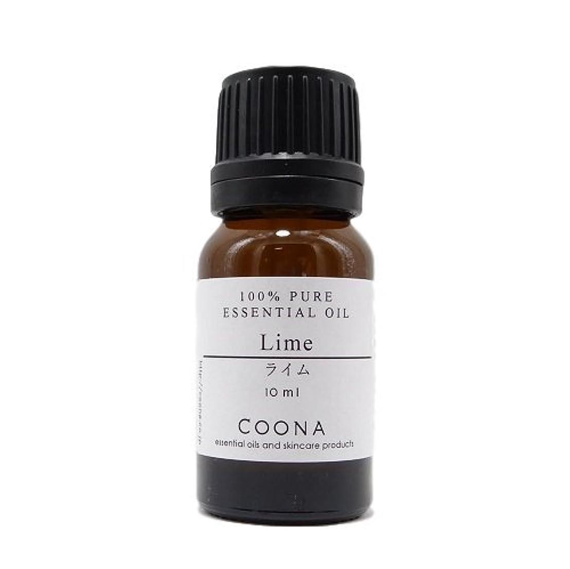 バイソン不健全そよ風ライム 10 ml (COONA エッセンシャルオイル アロマオイル 100%天然植物精油)