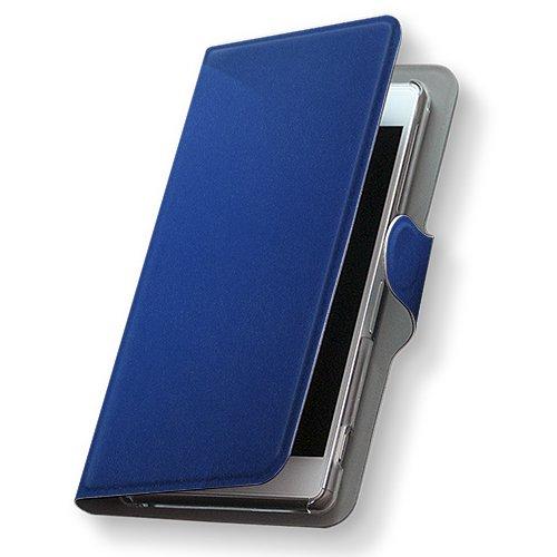 GALAXY S4 SC-04E ケース 手帳型 スマコレ 全機種対応 有り レザー 手帳タイプ 革 フリップ ダイアリー 二つ折り 横開き 革 SC04E ケース スマホケース スマホカバー クール 002230 Samsung サムスン docomo ドコモ シンプル 青 d-sc04e-002230-nb