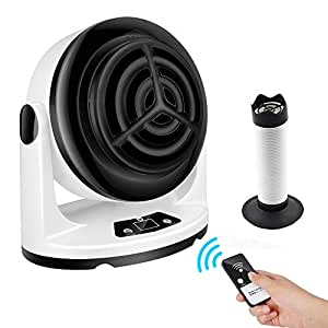 セラミックヒーター ファンヒーター 暖房器具 速暖 1台4役多機能省エネ タイマー機能 スマートリモコン付き 首振り 小型 洗面所 オフィス トイレ適用 暖風管付き ホワイト