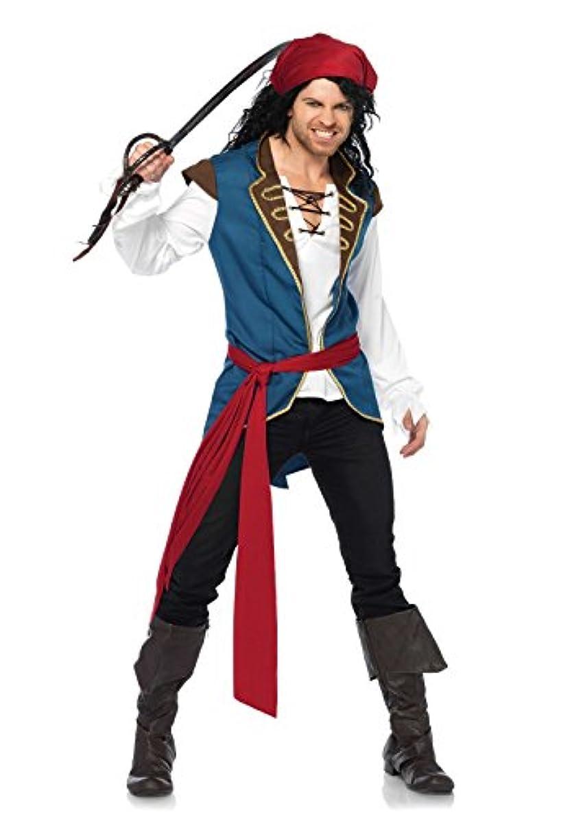 支配的評論家租界LEG AVENUE(レッグアベニュー)  メンズ Pirate Scoundrel シャツ ベスト サッシュ ヘッドスカーフセット ML マルチ 86637