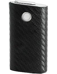 glo グロー ケース カーボン 柄 やわらか ソフト スリーブ カバー 底抜け 落下防止 下付き 黒 ブラック