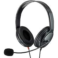 エレコム ヘッドセット マイク 4極 両耳 オーバーヘッド 耐久コード 40mmドライバ 1.8m HS-HP23TBK